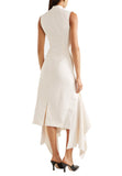 Ivory Klara Asymmetric Hem Dress