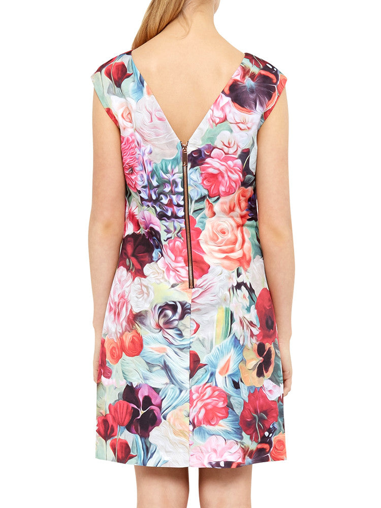 Floral Swirl ­Print Tunic dress