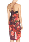 Red Juxtapose Rose Chiffon Cover-Up Dress