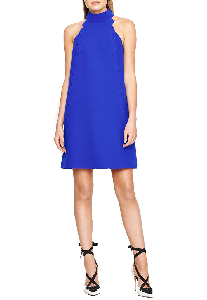 Royal Blue Torrii Scallop Mini Dress