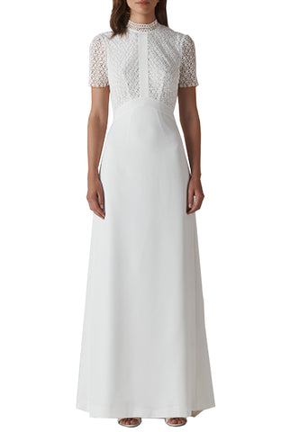 White Strapless Cordova Lace Wedding Gown