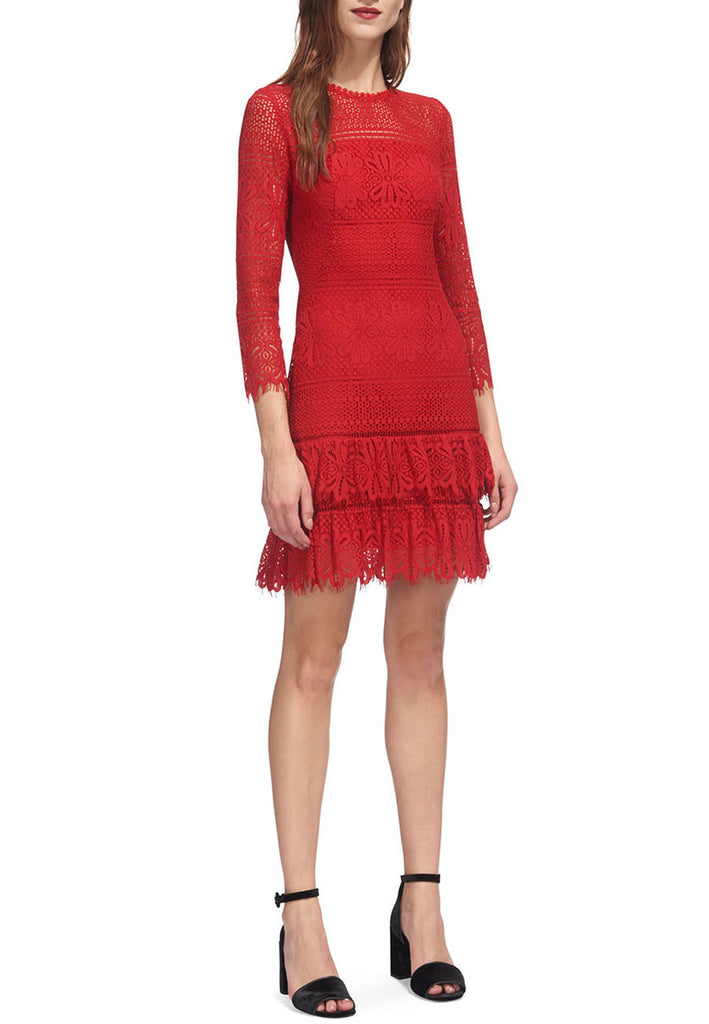 Red Marylou Lace Dress