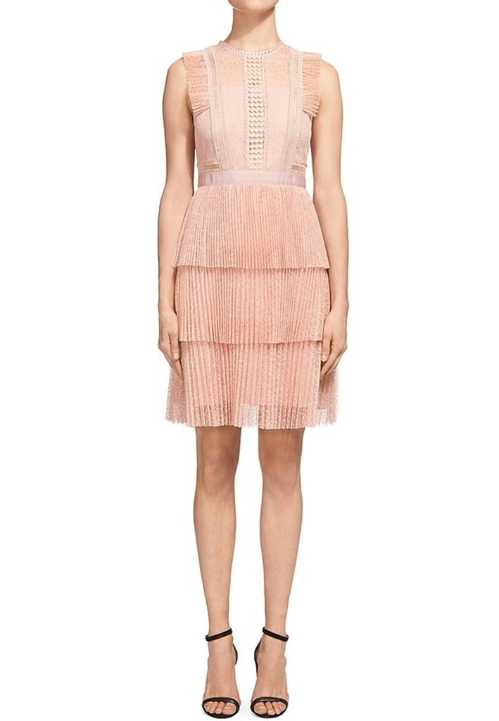 Blush Anouk Frill Pleated Lace Dress