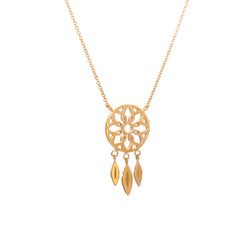 Yellow Gold Dream Catcher Necklace