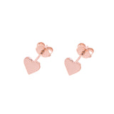 Rose Heart Stud Earrings