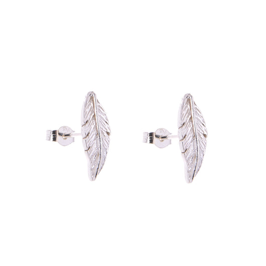 670747818 Silver Feather Stud Earrings · Silver Feather Stud Earrings