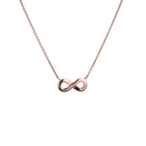Rose Infinity Necklace