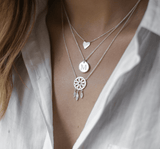 """A"" Disc Necklace"