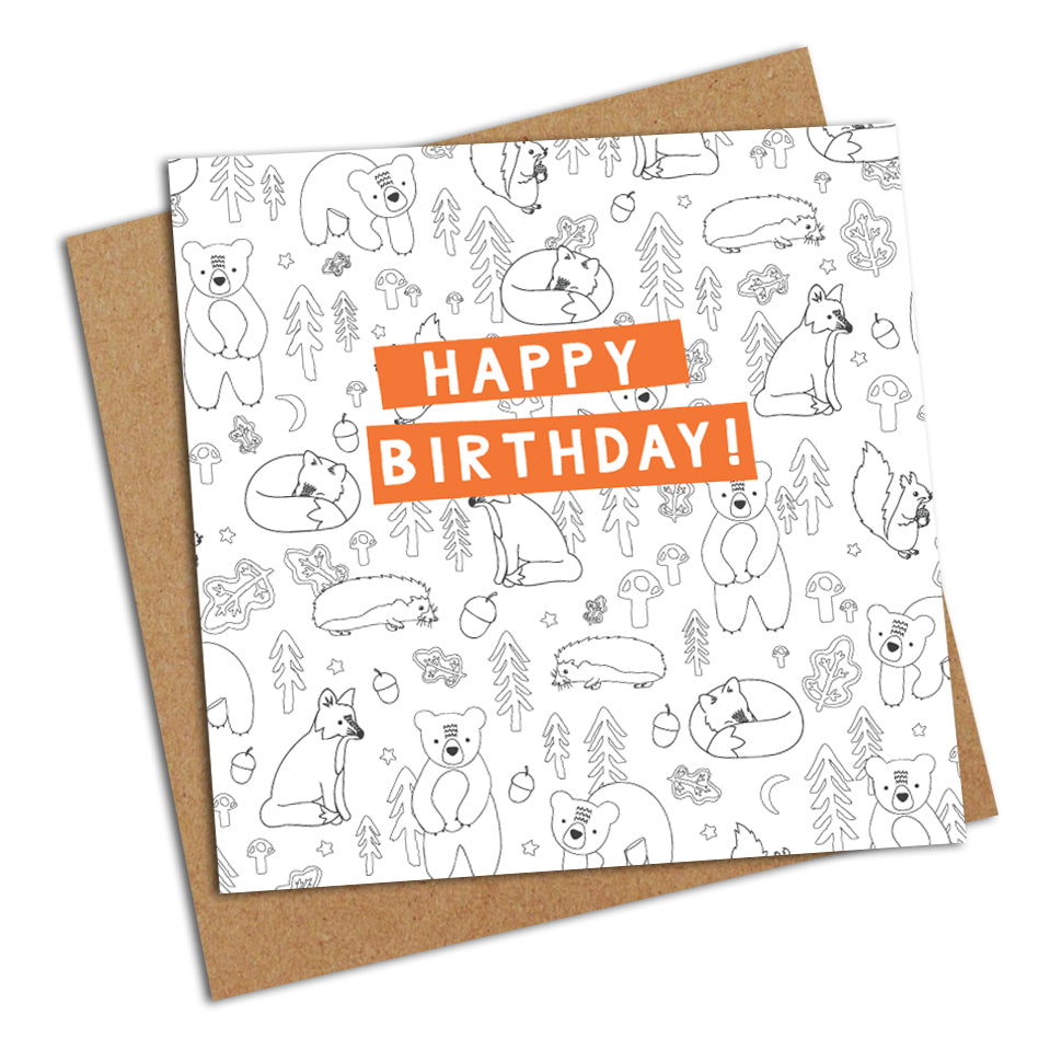 Colour Me In Birthday Card! - Greetings Card