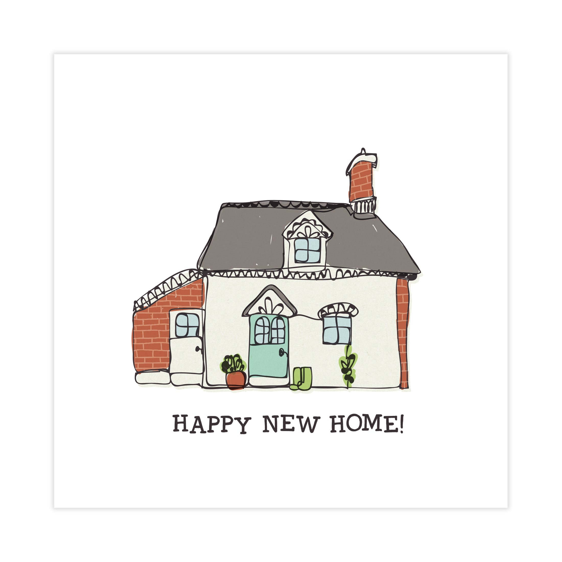 Happy New Home! - New Home Card