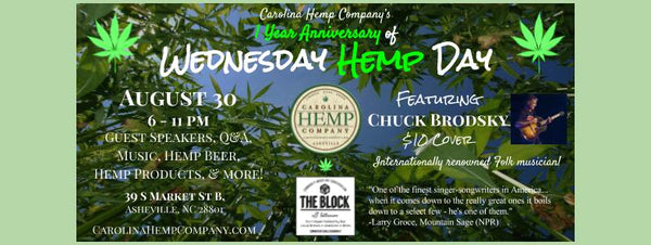 CHC Wednesday Hemp Day - 1 yr anniversary