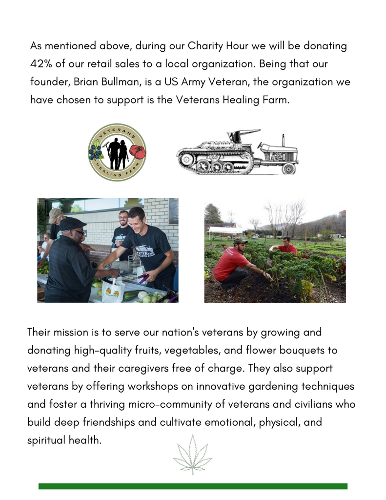 Charity Hour for Veterans Healing Farm