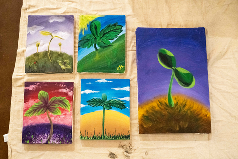 customer created paintings from Painting with Hemp