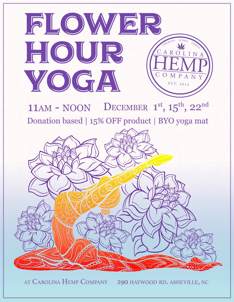 Flower Hour Yoga poster