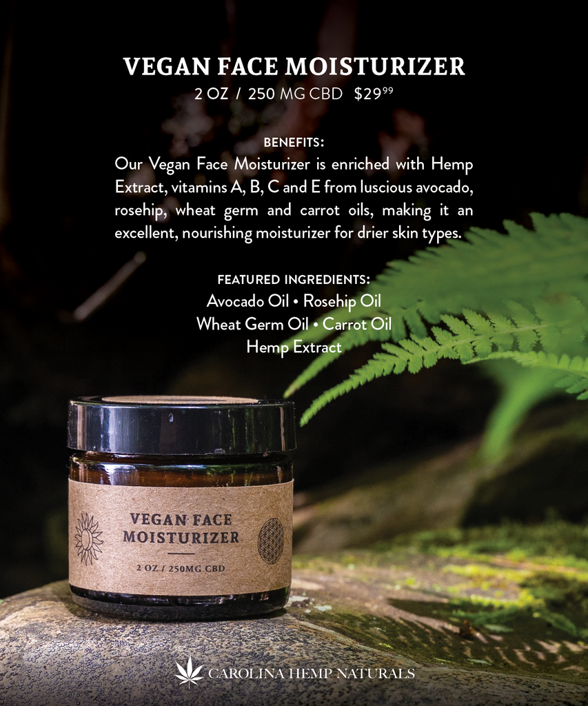 Vegan Face Moisturizer | Carolina Hemp Naturals | Skin Care