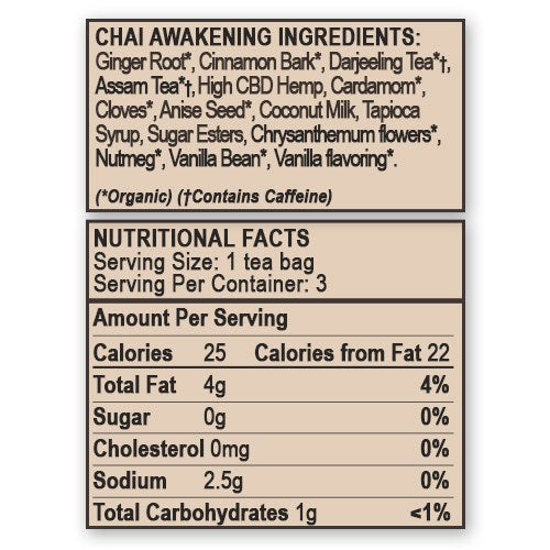 Chai Awakening | Hemp CBD Tea - Carolina Hemp Company