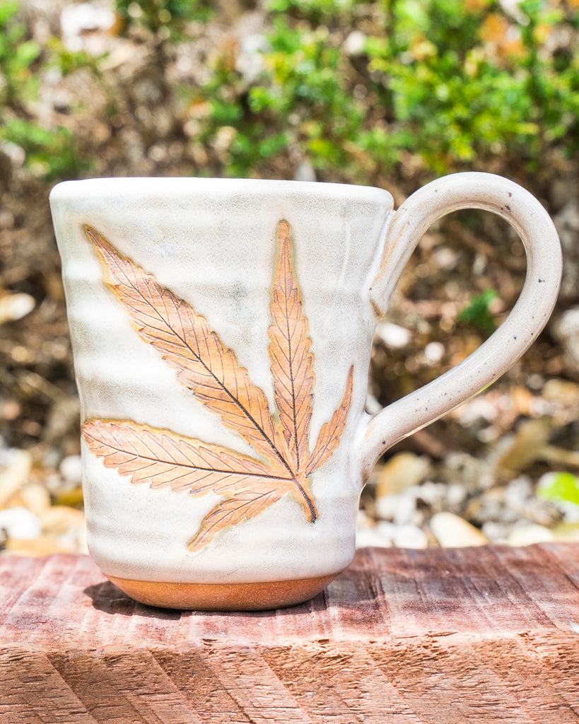 Hemp Leaf-Pressed Mugs - Carolina Hemp Company
