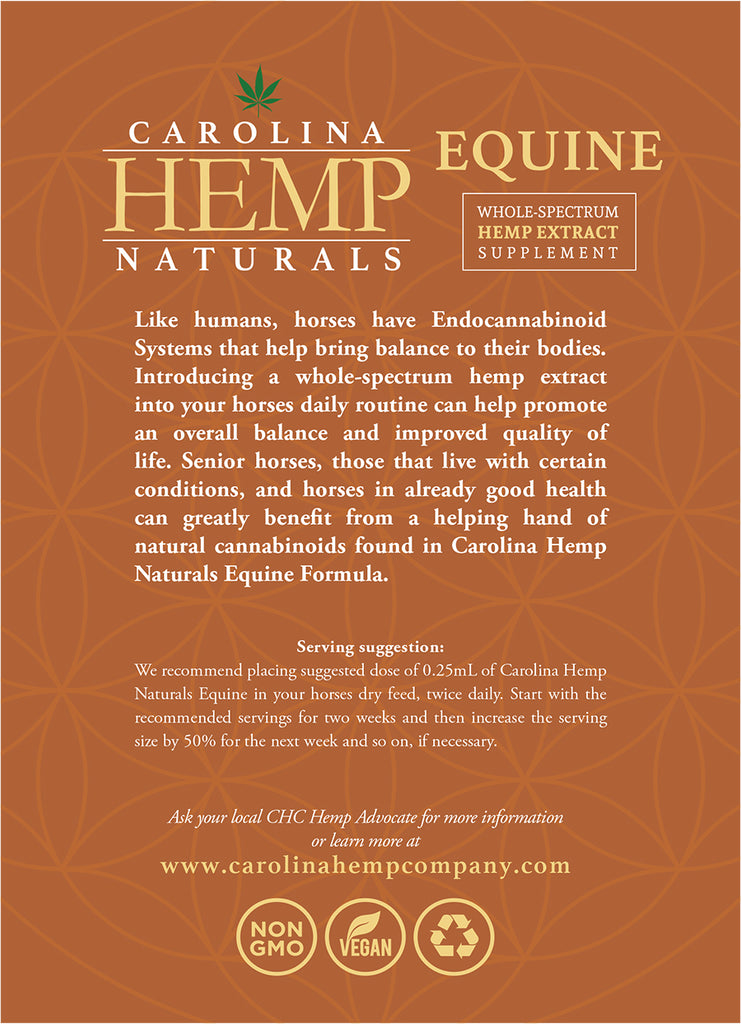 Carolina Hemp Naturals | Equine Sublingual Oil - Carolina Hemp Company
