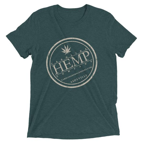 CHC Distressed Logo Bella Triblend T-Shirt | Unisex - Carolina Hemp Company
