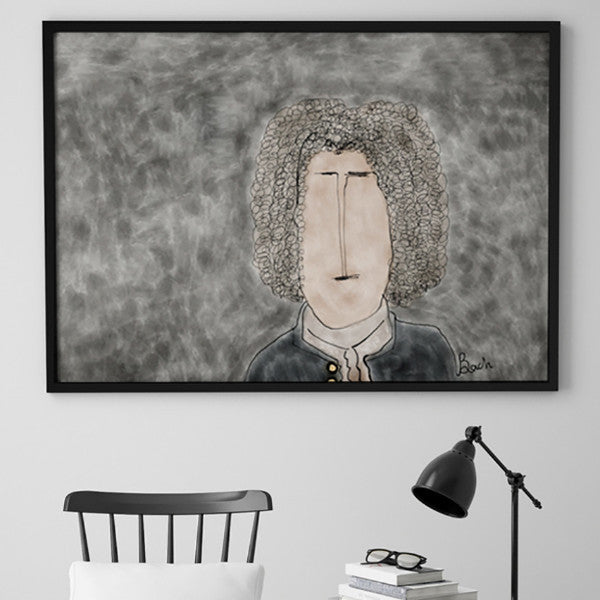 BACH - Crazy Composers Ekin Büyükşahin Illustration