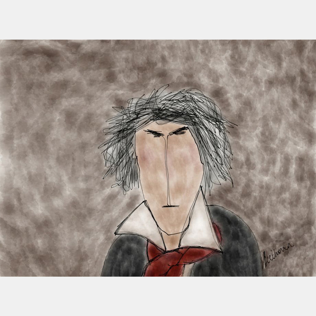 BEETHOVEN - Crazy Composers Ekinakis Illustration