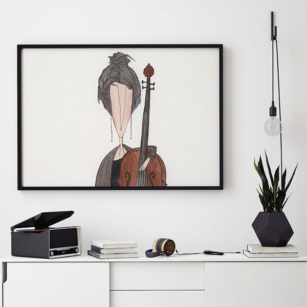 String Quartet - Cello Ekinakis Watercolour