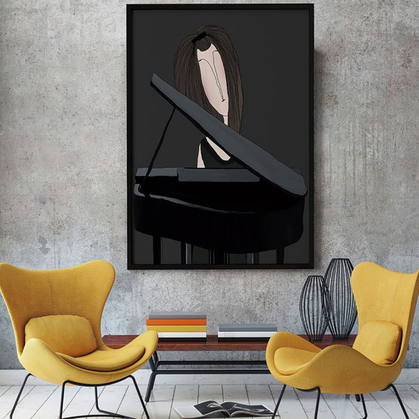 Pianist Ekin Büyükşahin Illustration