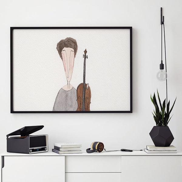 String Quartet - 1st Violin Ekinakis Watercolour