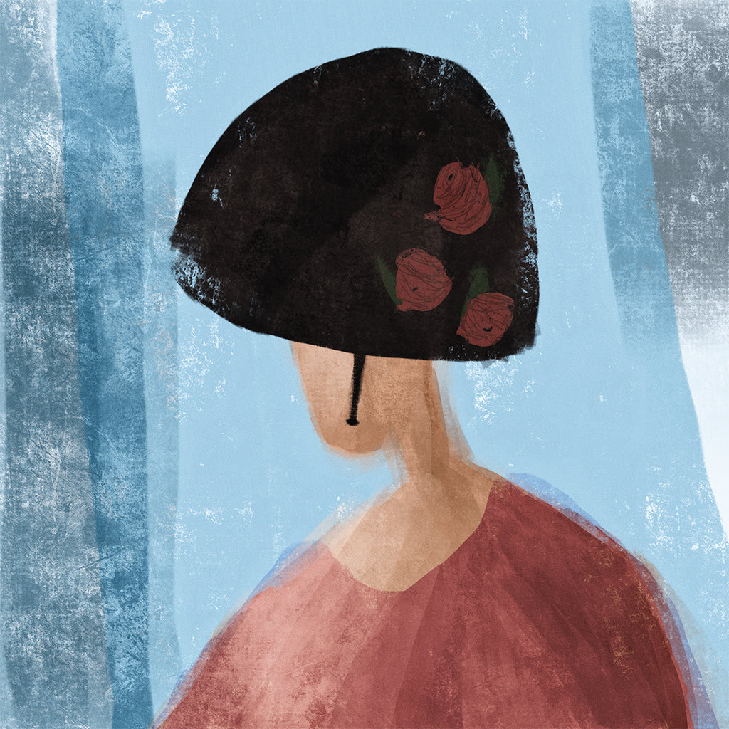 THE WOMAN WITH THE BLACK HAT