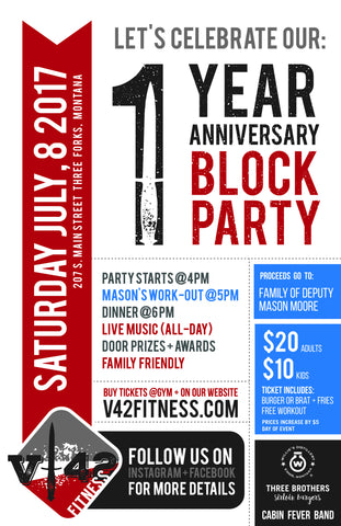 One Year Anniversary Block Party