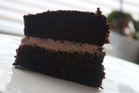 Vegan Chocolate Cake Recipe (With Chocolate Fudge Frosting)