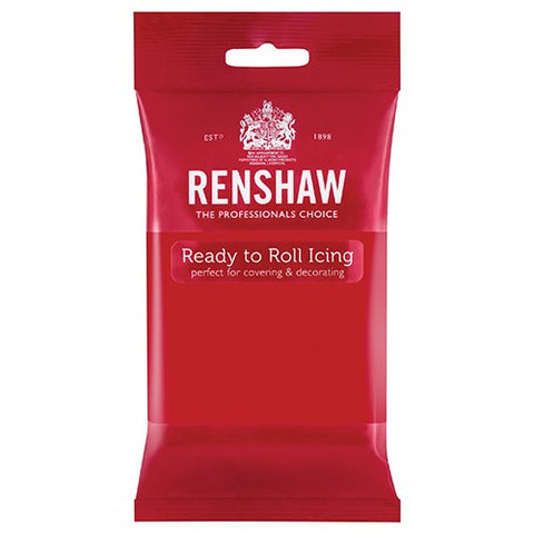 Renshaw Sugar Paste - Poppy Red 250g
