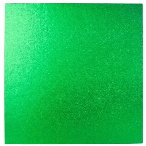 10 Inch Square Cake Drum - Green