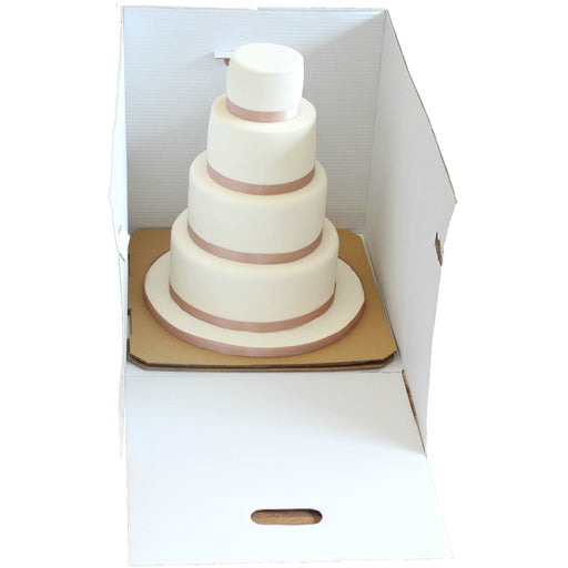 "Heavy Duty Stacked Cake Box - 16"" Square X 16"" High"