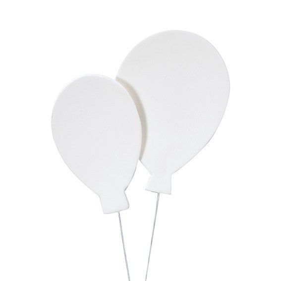 Gumpaste Balloons - White Pack of 3