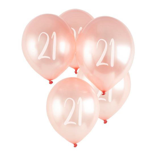 Milestone Balloons - 21st (pack of 5)