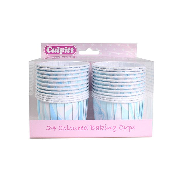 Baking Cups - Blue Marble