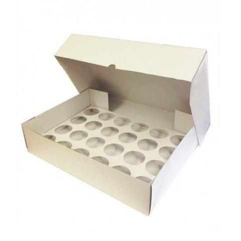 24 Cavity Corrugated Cupcake Box With Insert