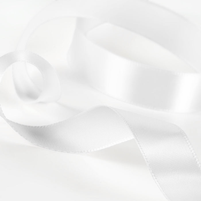 Satin Ribbon 1M 15mm - Icing White
