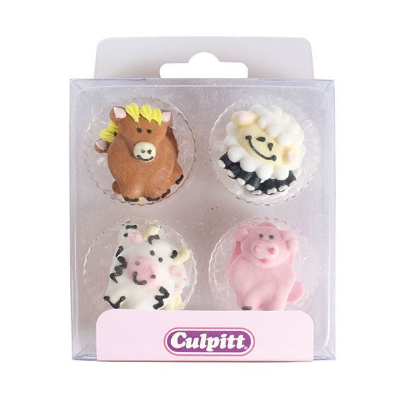 Farmyard Animals Sugar Decorations