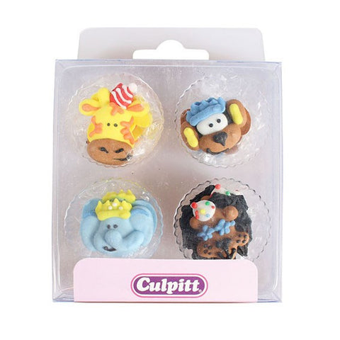 Party Animals Sugar Decorations