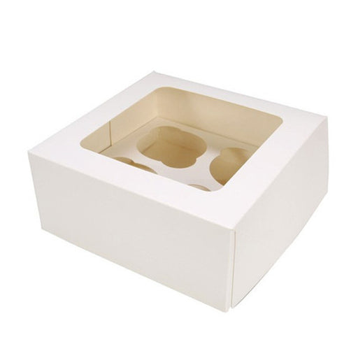 4 Cavity Cupcake Box With Insert