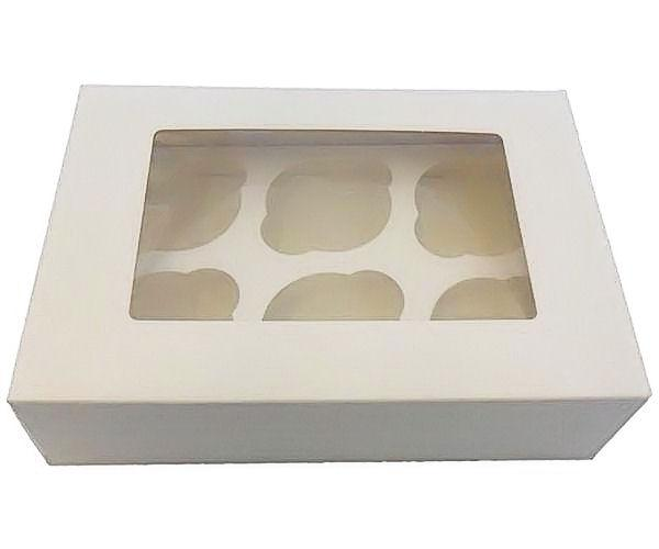 "3"" Deep 6 Cavity Cupcake Box"