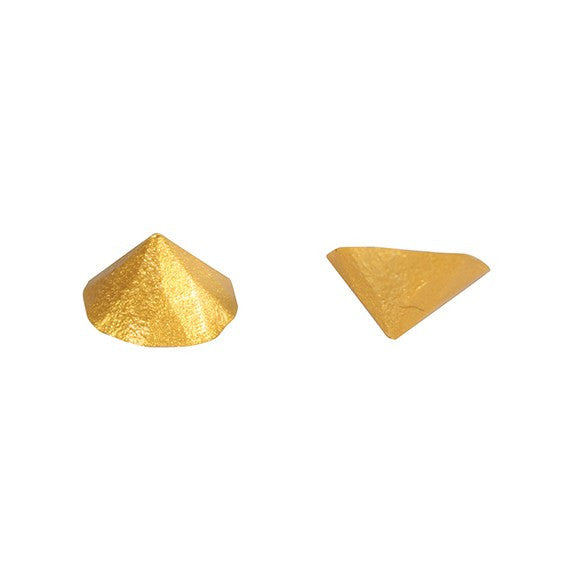 Jelly Studs Metallic Gold - Pack of 20