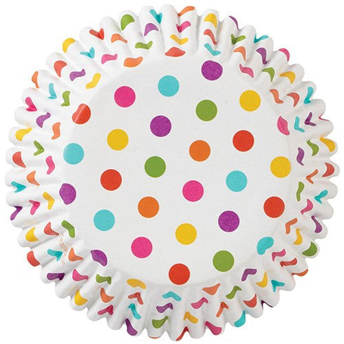 Rainbow Dots Baking Cases - Pack of 36