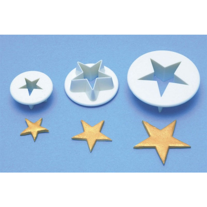 PME Plastic Star Cutters - Set of 3