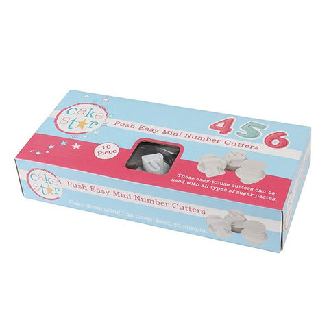 Cake Star Number Cutters - Mini Set 20mm