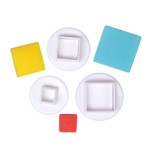 Cake Star Square Plunger Cutter - 3 Set