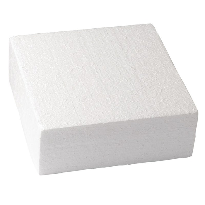 "Square 6"" x 3"" High Cake Dummy"