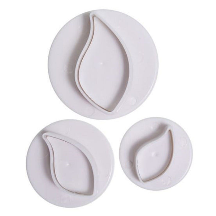 Cake Star Plunger Cutters - Curved Leaf